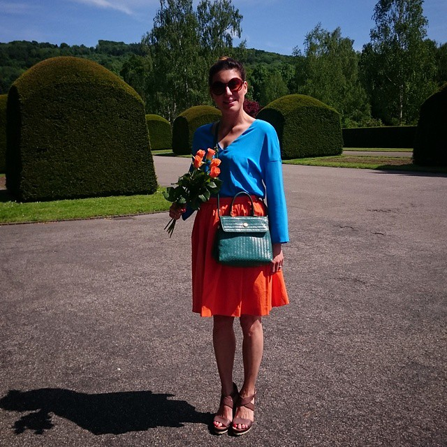 BRIGHT COLORS - soon more about this outfit on the blog. X